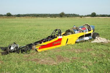 'Vampire' jet-powered car which crashed in 2006 whilst being driven by Richard Hammond (BBC 'Top Gear')