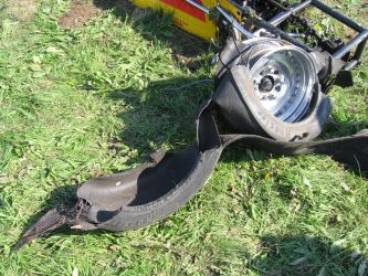 Failed front right tyre