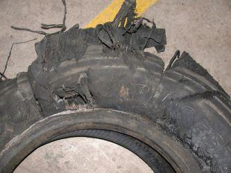 Damage following tread delamination and detachment